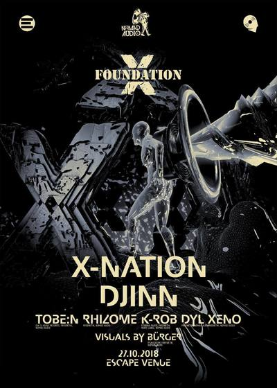 NOMAD AUDIO X FOUNDATION X // Djinn, X-Nation + more @ Escape , Timisoara, Romania (jungke  /  drum & bass /  dnb)