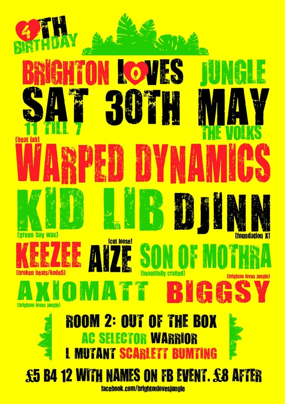 Brighton Loves Jungle The Volks Djinn Kid Lib Green Bay Wax, Warped Dynamics Beat Lab