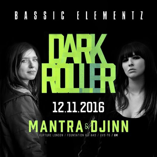 Mantra & Djinn @ Dark Roller, Klub NRD Torun - Poland Nov 2017 (female jungle  / drum & bass DJs)