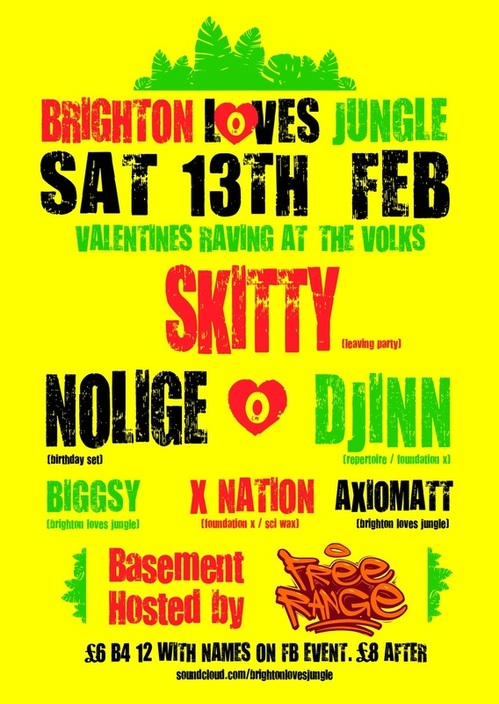 brighton loves jungle - skitty / nolige / djinn / foundation x