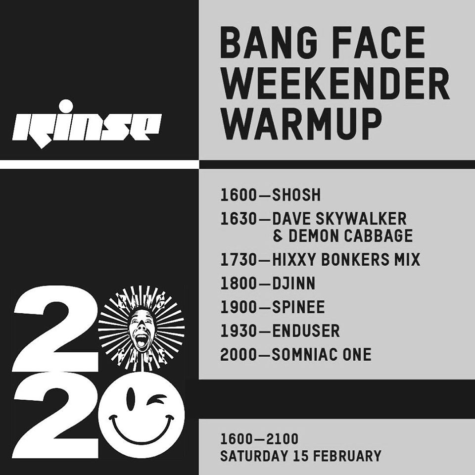 Rinse FM - Bangface Takeover