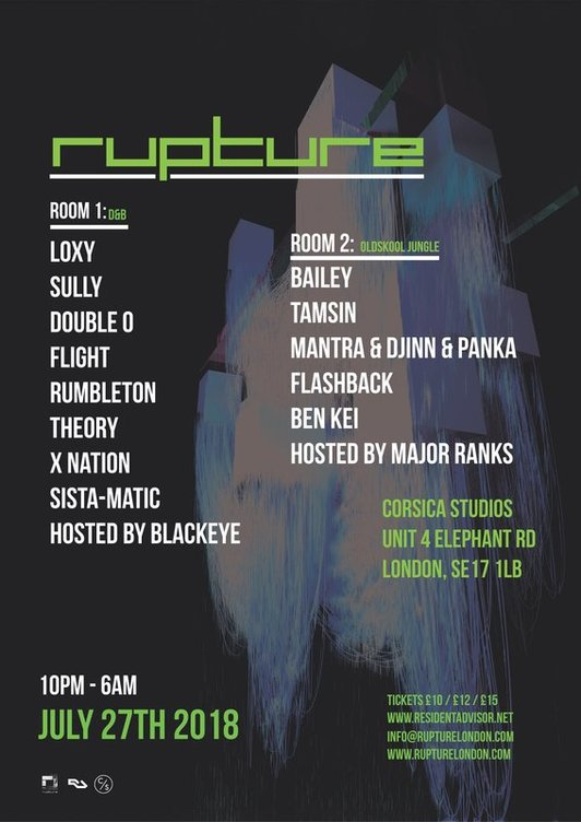 LOXY, SULLY, DOUBLE O, FLIGHT, RUMBLETON, THEORY, X NATION, SISTA-MATIC, BLACKEYE MC, BAILEY, TAMSIN, MANTRA & DJINN & PANKA, FLASHBACK, BEN KEI, MAJOR RANKS (jungle / drum and bass /  oldskool) - London