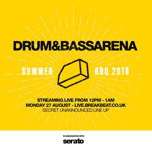 DRUM & BASS ARENA SUMMER BBQ 2018 @ STUDIO 338, LONDON. Phase / Grey Code / Taalimb / Gerra & Stone / Djinn / Ownglow / Brookes Brothers / Glxy / Kove / Kyrist / The Prototypes / Serum / Voltage / Grooverider / AMC / Benny L